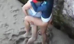 Ngintip Turis Bule Ngentot di Pantai